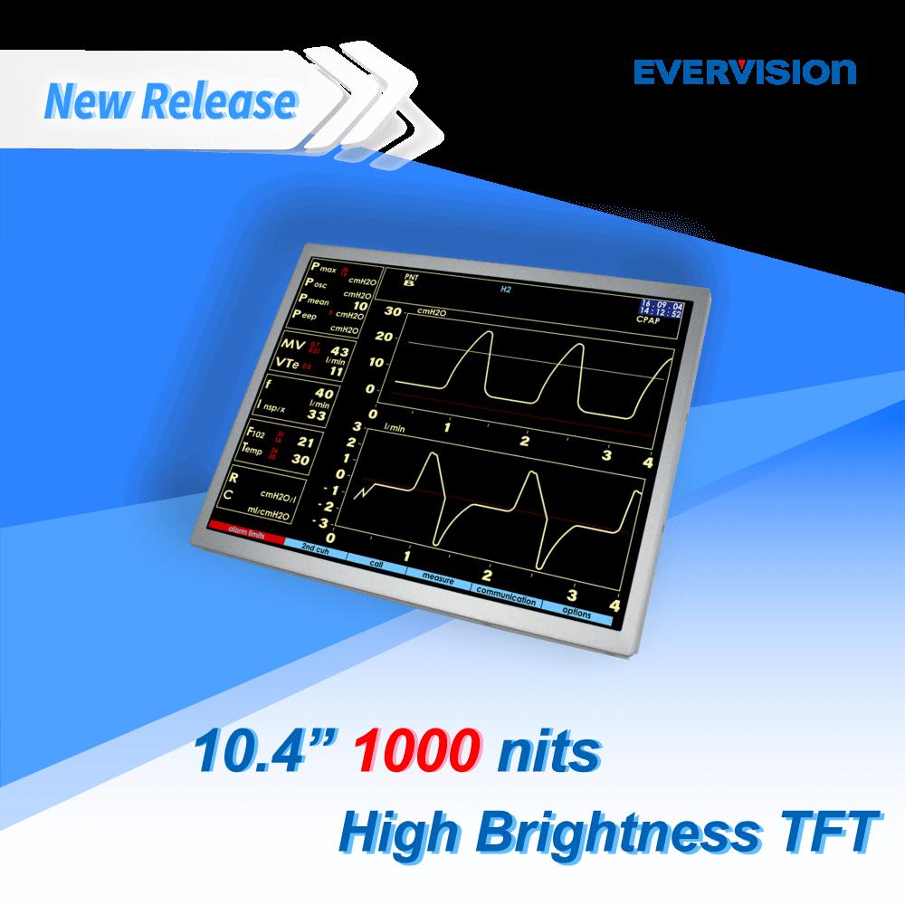 10.4吋廣視角View TFT LCD, LVDS 訊號介面 | 億力光電 EVERVISION